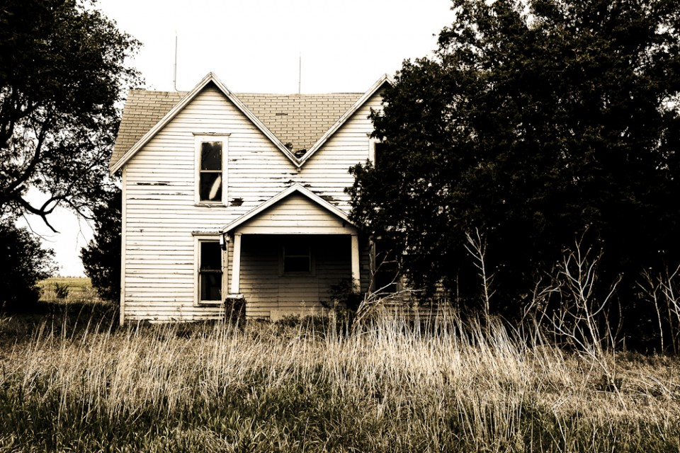 An old, scary house in Kansas