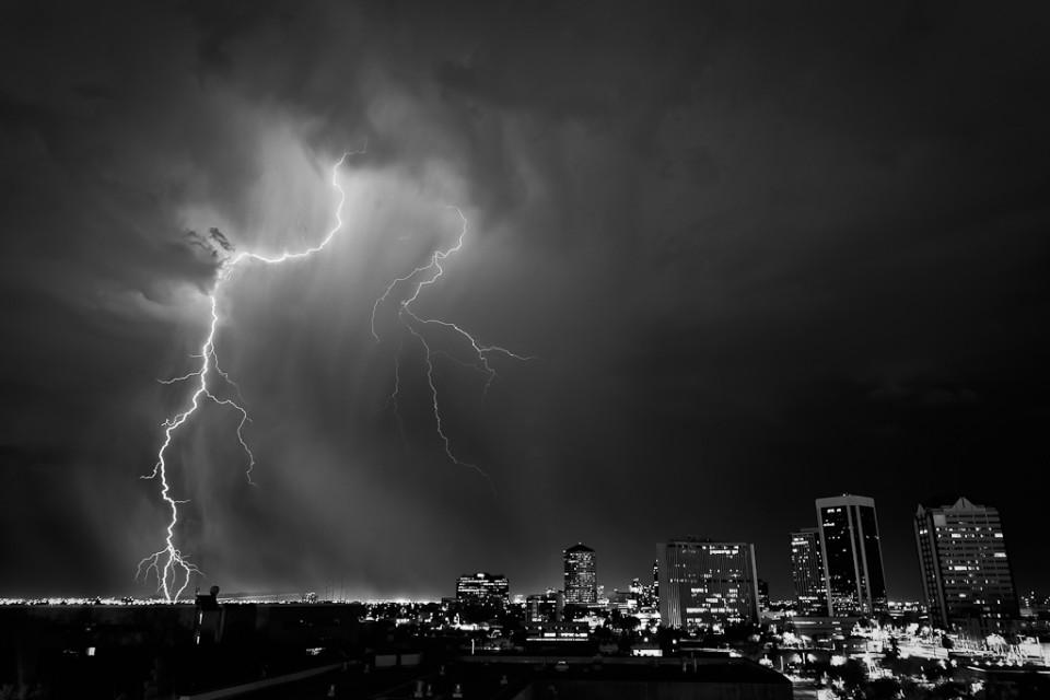 Downtown Phoenix Lightning - August 3rd 2011