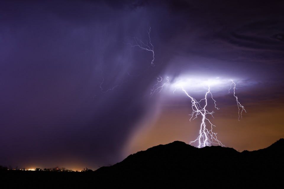Purple Rain - Arizona Monsoon Lightning
