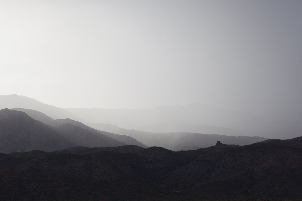 Pillar in the Rain - Arizona Monsoons