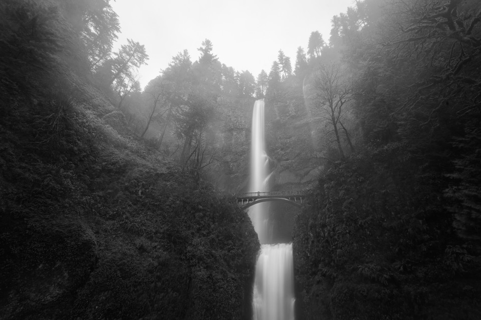 Foggy Multnomah Falls