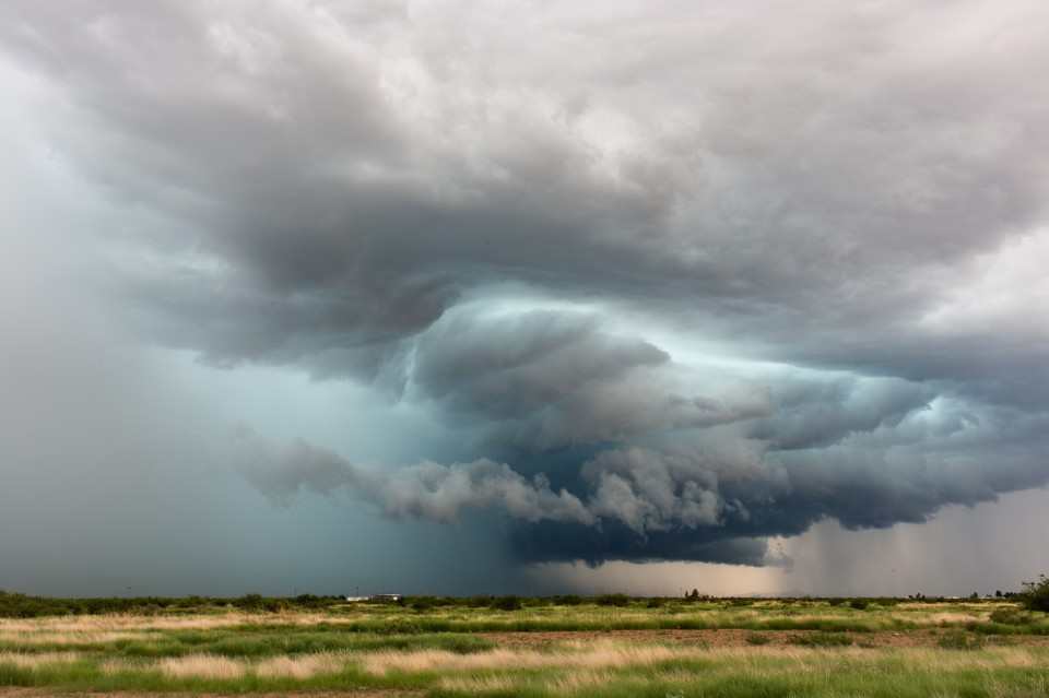 A hail core near Douglas, Arizona