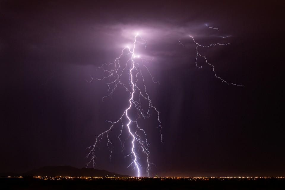 Lightning over Casa Grande