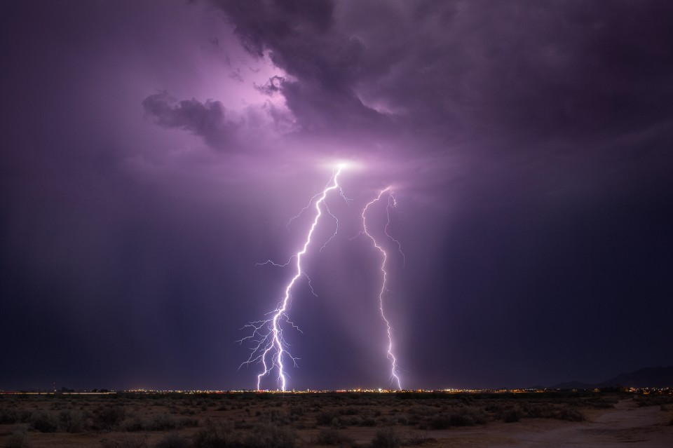 Lightning over Eloy