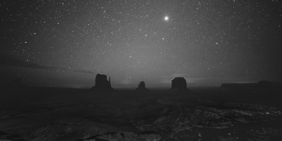 A hazy night out in Monument Valley in early January, 2015.