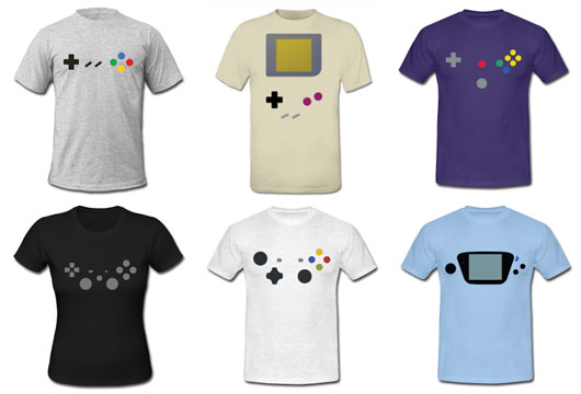 gaming controller tshirts and apparel