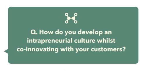 intrapreneurial culture whilst co-innovating with your customers