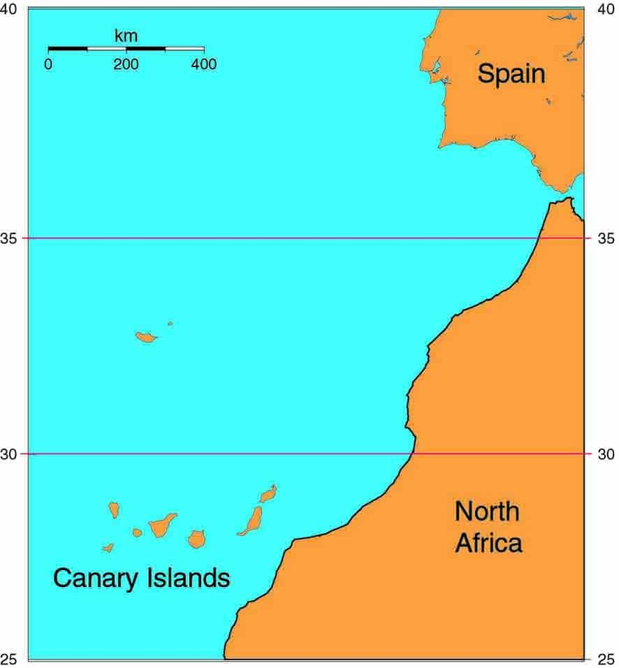 Map Of Canary Islands And Africa.Canary Islands Last Rainforest In Europe Mike Pole