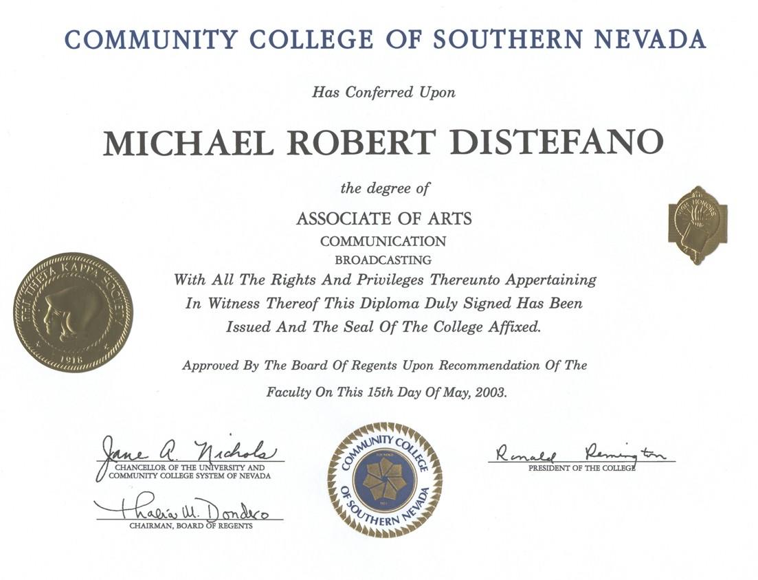 Associates Degree Associates Degree Liberal Arts