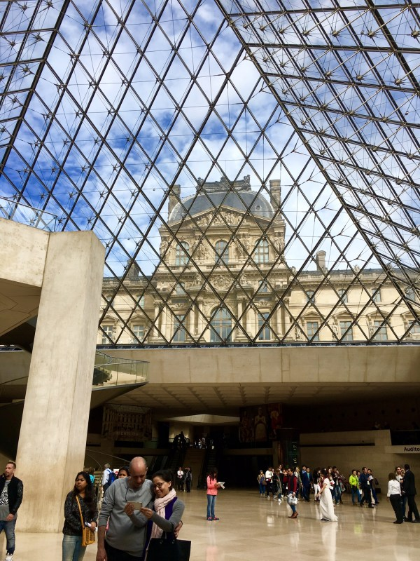 Glass Pyramid Entrance Louvre Museum