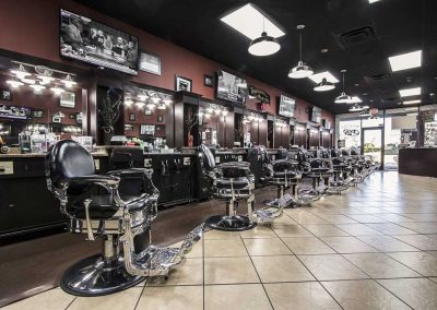 Mike Barbershop Inside shop view