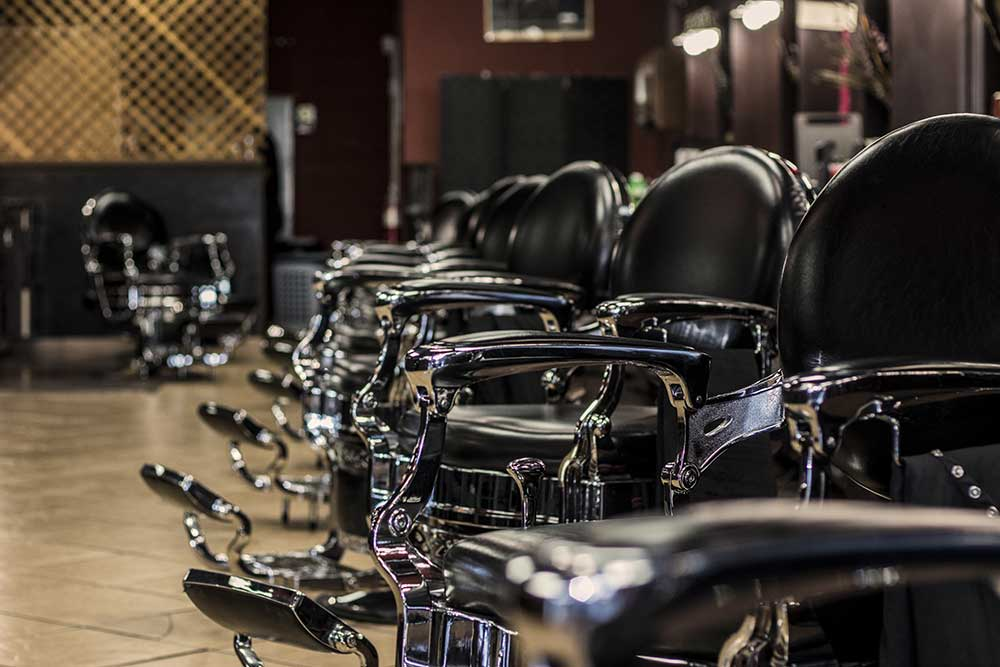 line view of mike barbershop vintage chairs