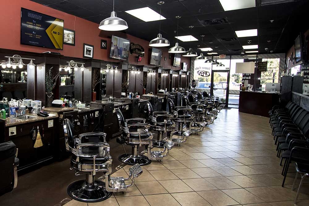 Back of barbershop