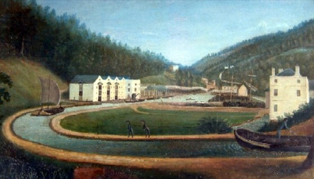 Image result for old painting of wool mill
