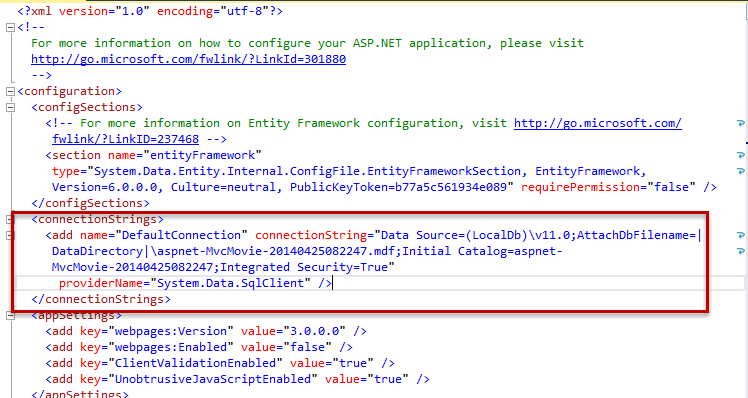 Creating a Connection String and Working with SQL Server LocalDB