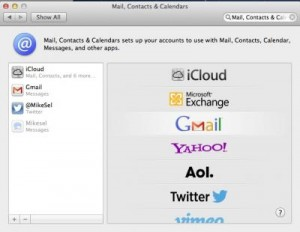 Mail, Contacts & Calendars