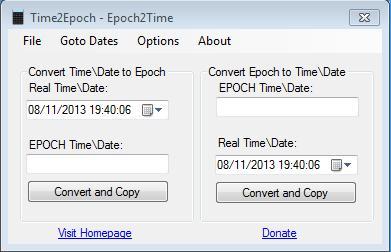 Time2Epoch
