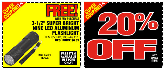Harbor Freight Tools 20 Off Coupon