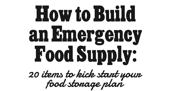 How to Build an Emergency Food Supply: 20 Items to Kick