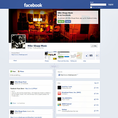 Mike Shupp Music on Facebook