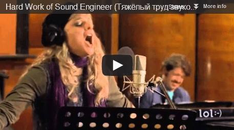 Hard Work of Sound Engineer