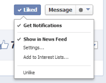 """Like"" Button Hover Menu"
