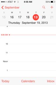 iOS 7 - Calendar