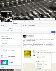 Facebook Pages Redesign - Mike Shupp Music