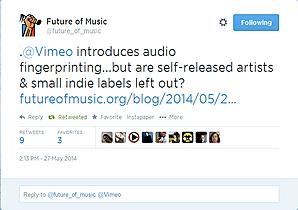 Vimeo Introduces Audio Fingerprinting