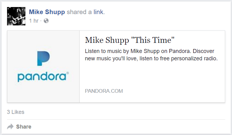 "Mike Shupp ""This Time"" on Pandora"