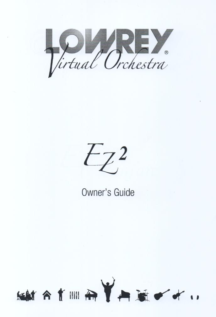 Lowrey EZ2 Virtual Orchestra Organ Owners Manual