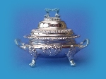 Miniature silver soup tureen