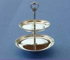 miniature silver tiered cake stand