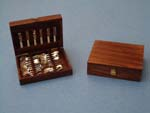 miniature silver ware cutlery box