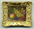 miniature painting 0128 Still life with grapes and other fruit.