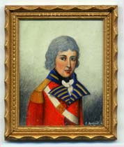 Miniature painting 0194 Young Soldier in Red