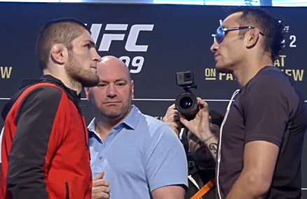 There was a lot of tension in the air at UFC 209 media day face-offs.