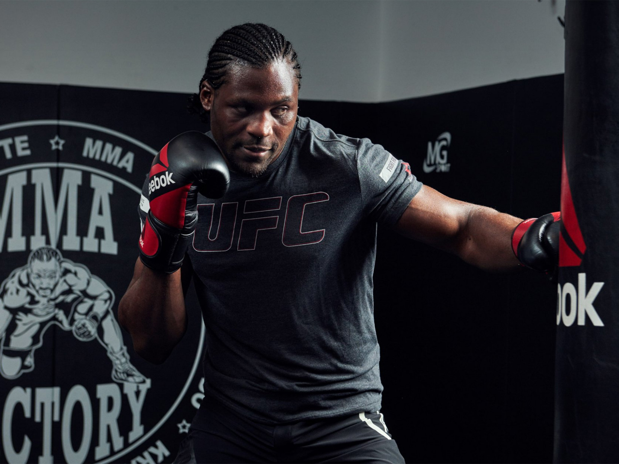 Francis Ngannou holds open workout and media scrum ahead of UFC 209