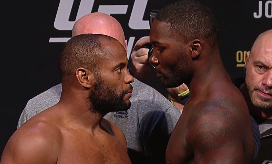 UFC 210 Buffalo: Cormier vs Johnson Traditional weigh-ins face-off