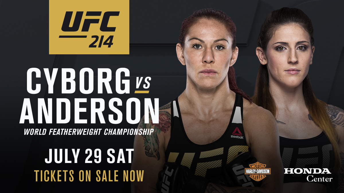 With Germaine de Randamie being stripped of he featherweight title, Cris Cyborg and Megan Anderson will now fight for the title.