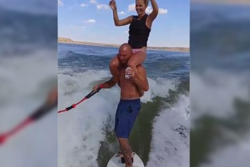 Cowboy wakeboards with beers and girls