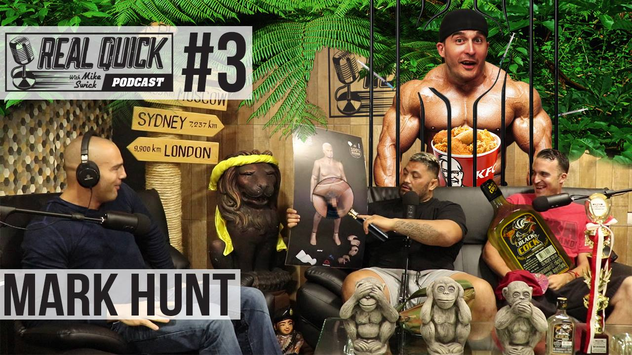 REAL QUICK W/ MIKE SWICK EP #3 – MARK HUNT IN STUDIO! – PHUKET THAILAND