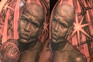 Holy Mayweather tattoos! Floyd posts (A lot) of fan tatts of him to his IG