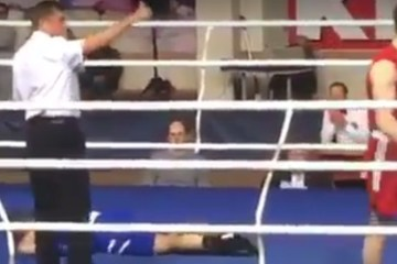 Watching a guy get knocked out cold, never gets old. Ever.