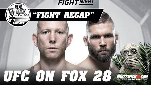 RQMS: UFC on FOX recap. Controversy and classlessness in Orlando.