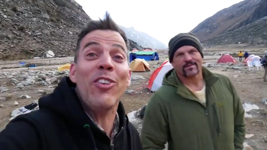 Steve-O and Chuck Liddell in the mountains. Talk Chuck fighting.