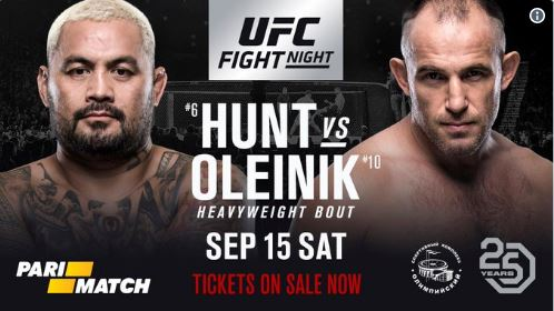 UFC Moscow gets Mark Hunt vs. Aleksei Oleinik main event