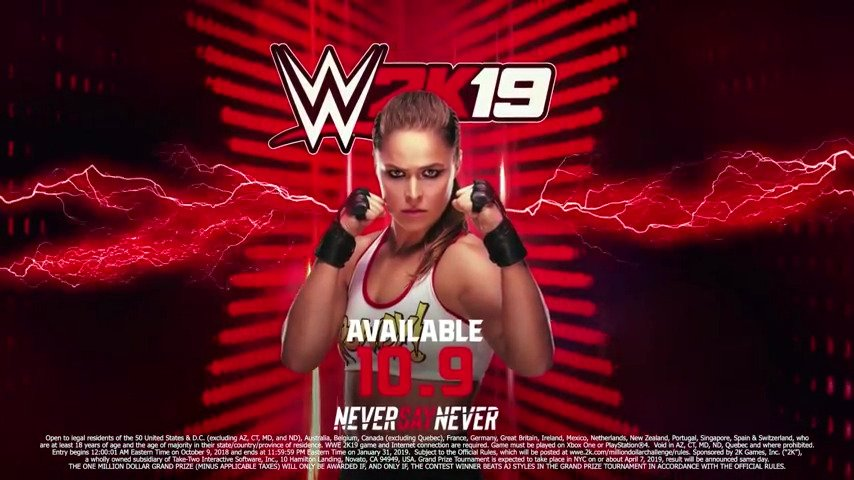 Pre-order WWE 2k19, get Ronda Rousey as a playable character