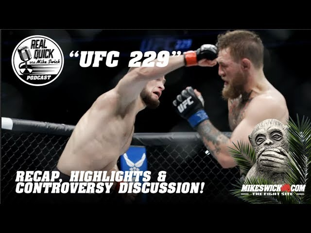 UFC 229 recap. Conor, Khabib, and the ugly scene after their fight
