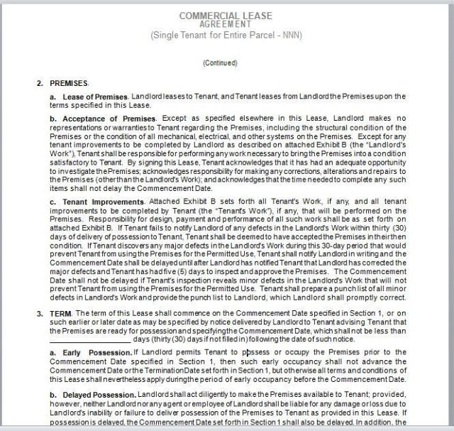 Commercial Lease Agreement Template 13